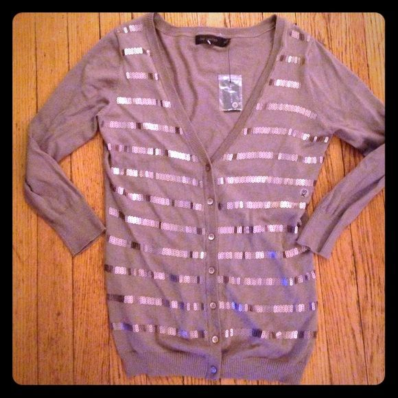 NWT The Limited bronze sequin cardigan Sz XS NWT | D, Sweater ...