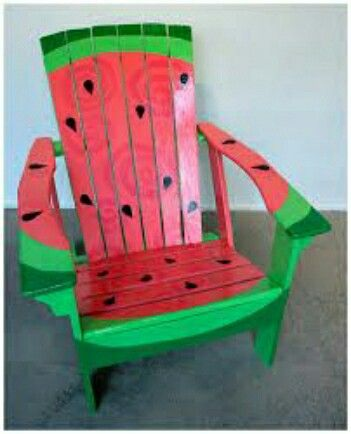 Watermelon Chair Watermelon Pinterest Paint