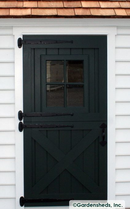 DUTCH DOOR : Black : Dutch Door Hardware : Crossbuck Door : Barn Door With  Window