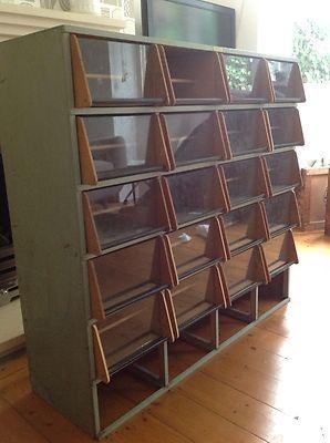 Vintage Haberdashery Cabinet Shop Display Drawers Shelves ...