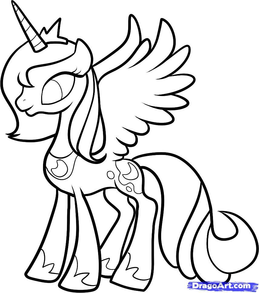 Ausmalbilder My Little Pony Luna Böse : Mlp Printable Coloring Pages How To Draw Luna Princess Luna My