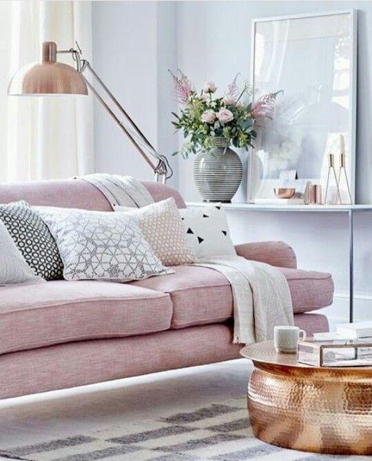 Sillones rosa cuarzo + detalles dorados o cobre Euphoria - sillones para habitaciones