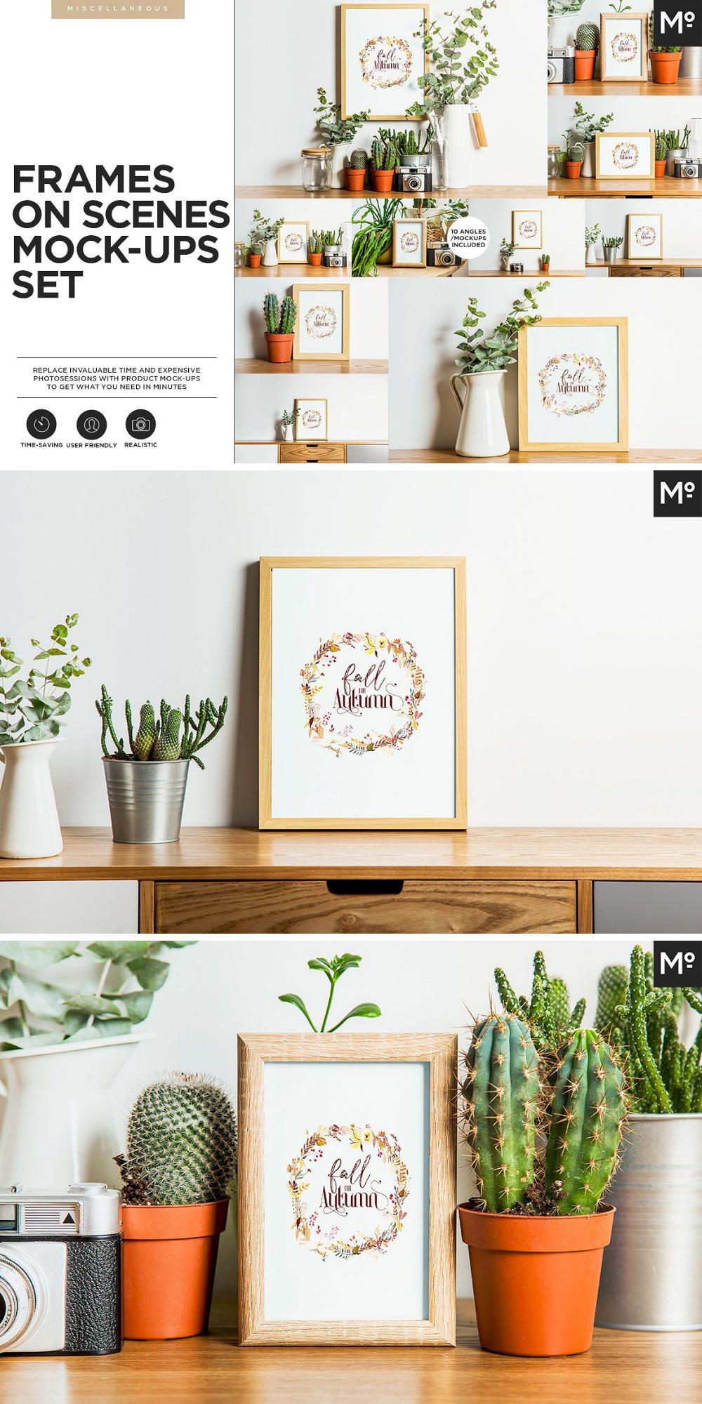 Verschiedene Mockup Designs Mit Bilderrahmen Kopiere Dein