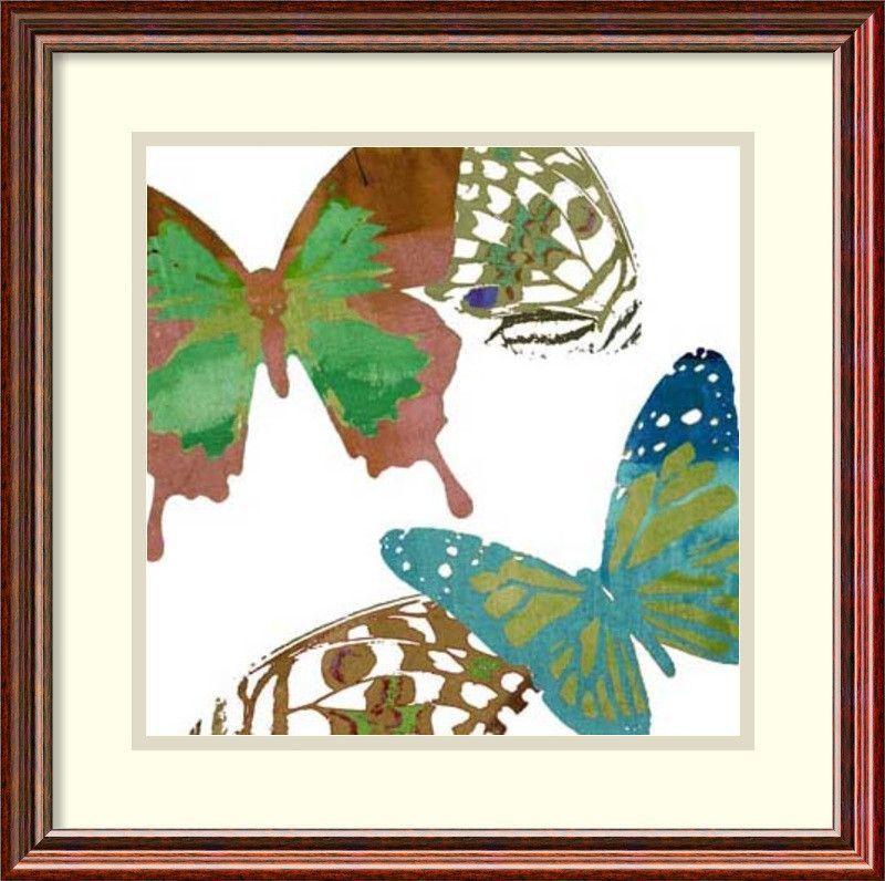 Scattered Butterflies I by Sisa Jasper Framed Painting Print ...