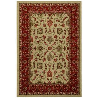Rubber Back Ivory Traditional Floral Non Slip Area Rug 6 7 X 9 3 Rugs Rubber Backed Area Rugs Colorful Rugs