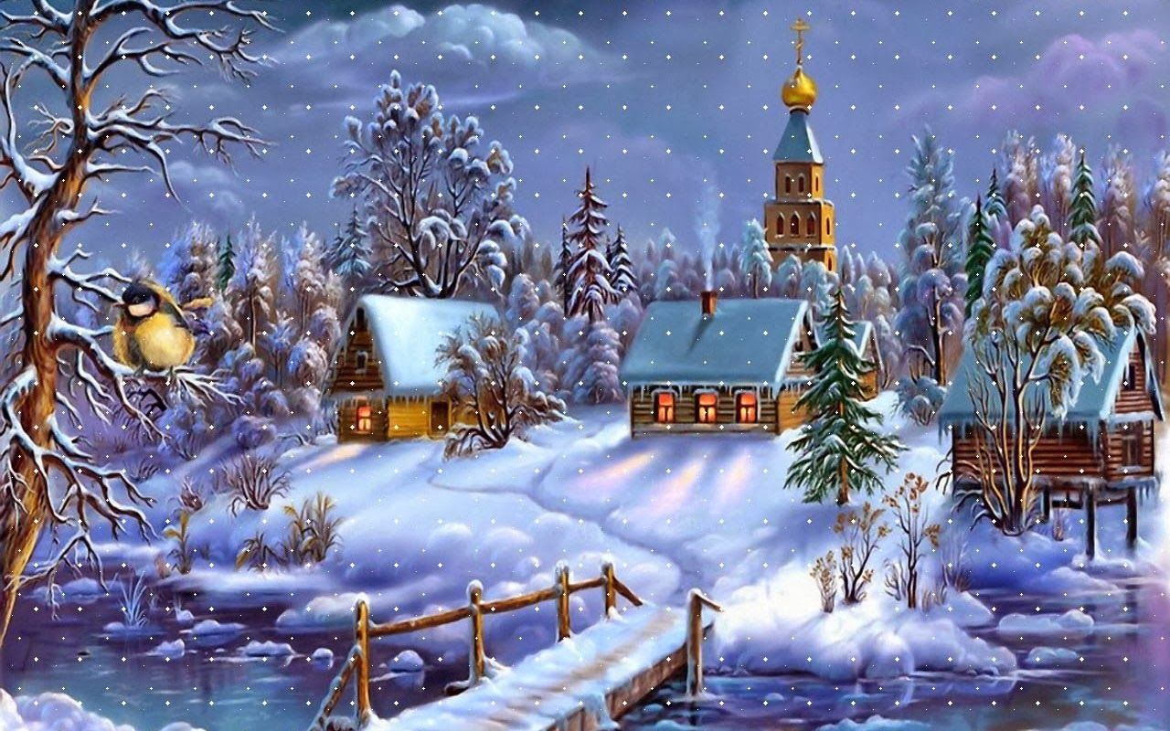 Snowy Christmas Village HD Wallpapers Blog Christmas