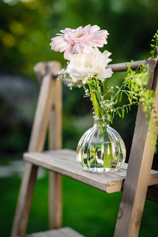 Vases Fioles Soliflores Decoration Table Mariage Centre De Table