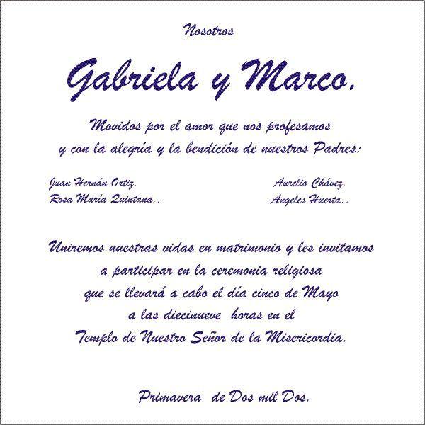 Frases De Invitaciones De Boda Texto Para Invitaciones