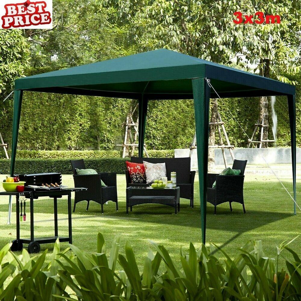 Garden Gazebo Canopy Wedding Party Outdoor Tent Marquee Patio Sun Shade 3x3 M Uk Gazebo Partytent Tent Sunshade Sh Gazebo Patio Sun Shades Outdoor Gazebos