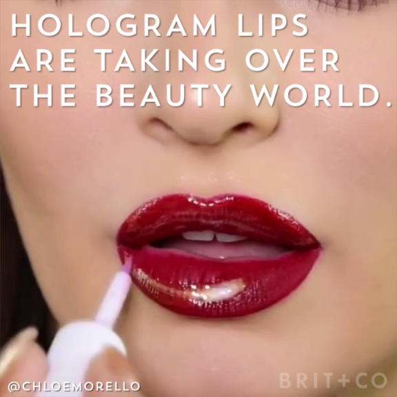 Photo of This Holographic Lip Trend Is Futuristic AF
