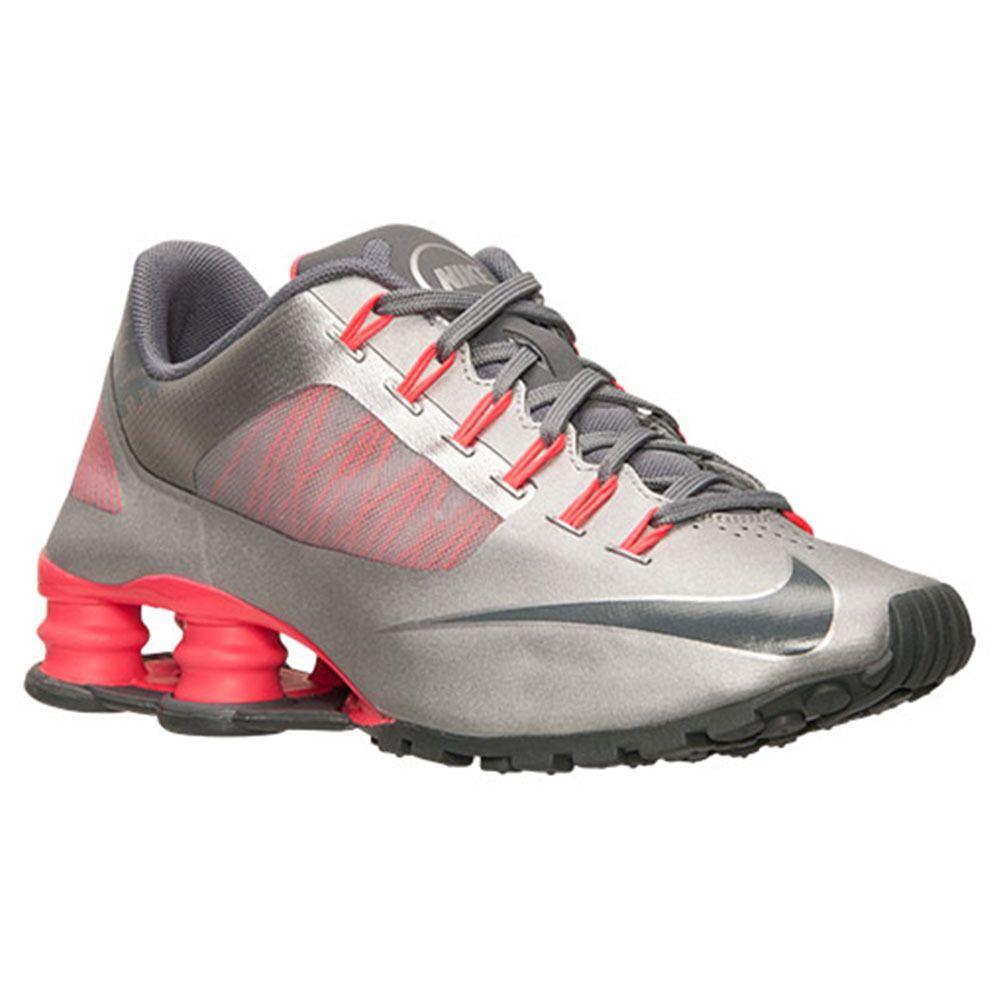 New Sz 10 Nike Shox SuperFly R4 Women's Running Shoe Silver Grey Pink  653479 006