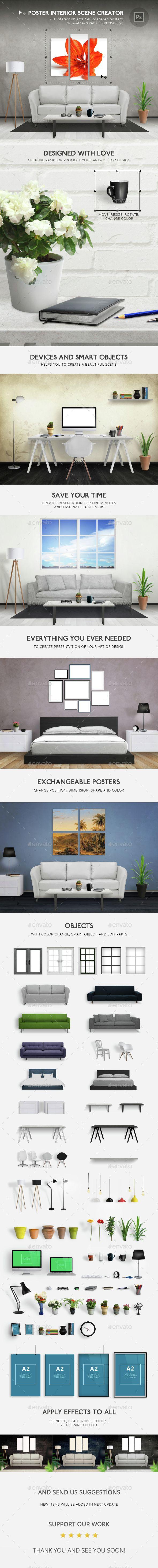 Poster design creator - Poster Interior Scene Creator