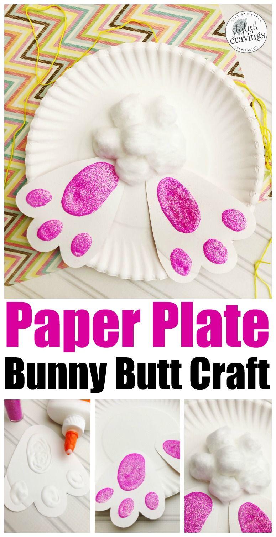 Paper Plate Bunny Craft Eastercrafts Craftsforkids Easterfun