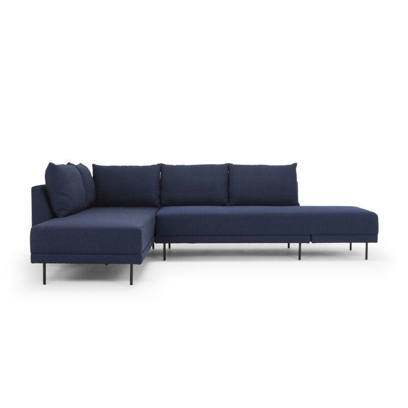 Aldren 116 Sleeper Sectional Allmodern In 2020 Sleeper Sectional Sectional Sleeper Sofa Sectional Sofa