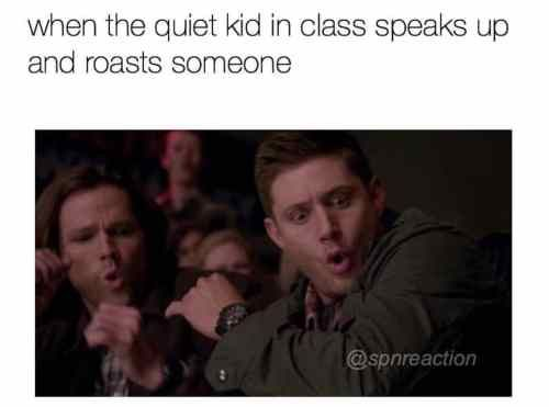 Funny Memes To Roast Someone : When the quiet kid in class speaks up and roasts someone meme