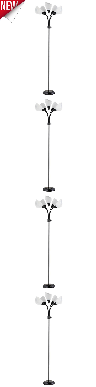Lamps 112581: Floor Lamp 5 Bulbs Adjustable Modern Steel Light Stand Living  Room Home Plastic