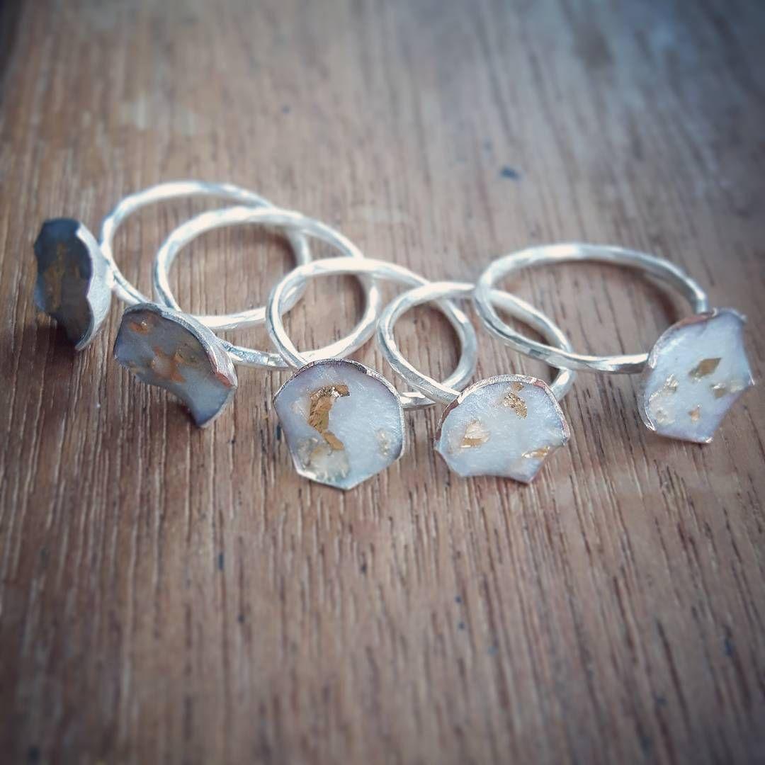 Arctic White Terra rings are also coming soon.  ________________________________________________ #handmadejewelry #newdesigners #artjewelry #jewellery #jewellerydesign #metalsmith #silversmith #ringsfordays #ringthing #showmeyourrings #stackingrings #lovehandmade #handmademarket #contemporaryjewellery #contemporaryjewelry #resinjewelry #resinjewellery #lifeincolor #resin #fashionbloggers #scottishdesigner #sellhandmade #handmadeisbetter #craftspeople #emergingdesigner #24ct #24ctgoldleaf #edinbu