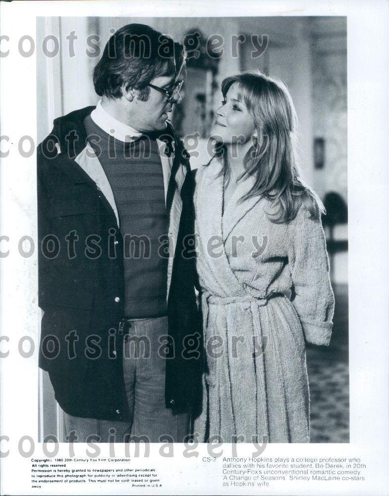 1980 Wire Photo Actors Anthony Hopkins & Bo Derek in Movie A Change ...