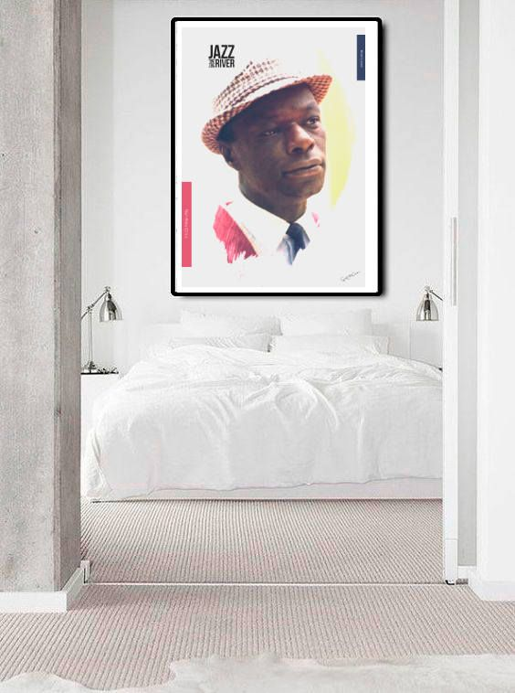 Nat King Cole Collage music soul jazz pianist interior