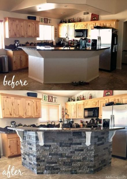 kitchen island stone rocks layout 27 ideas kitchen island makeover diy kitchen island stone on kitchen remodel no island id=70858