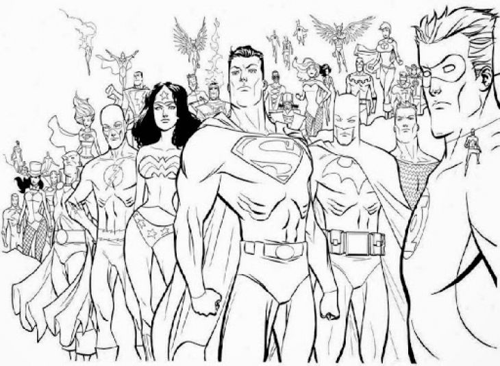 Free Printable Coloring Sheet Of Justice League America