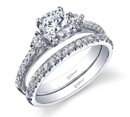 Engagement Ring Wedding I Love The Matching Set That Go To Get Her 3 Stone
