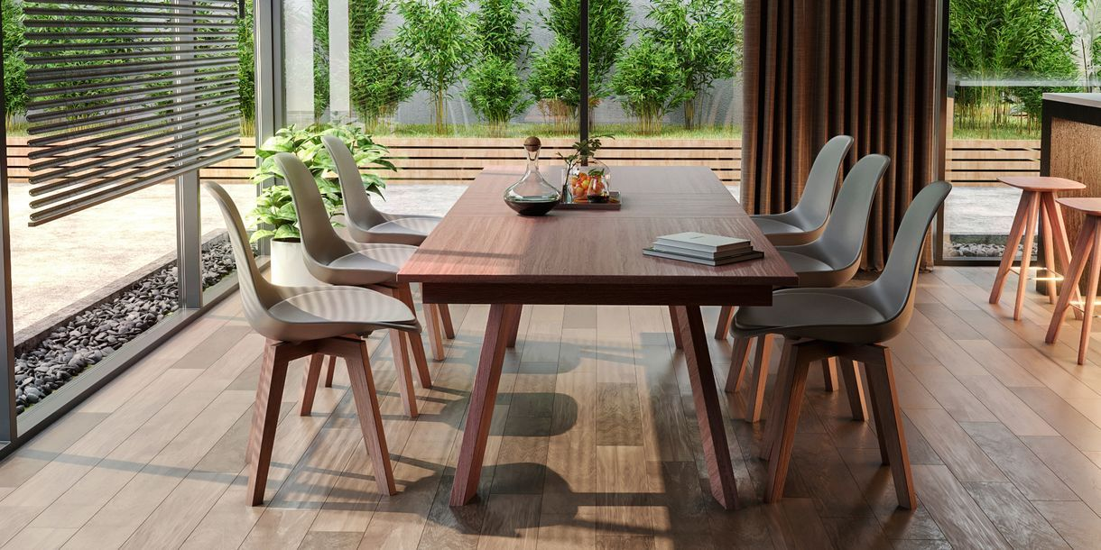 Thoren Table Walnut Extendable Dining Table Dining Table Dining