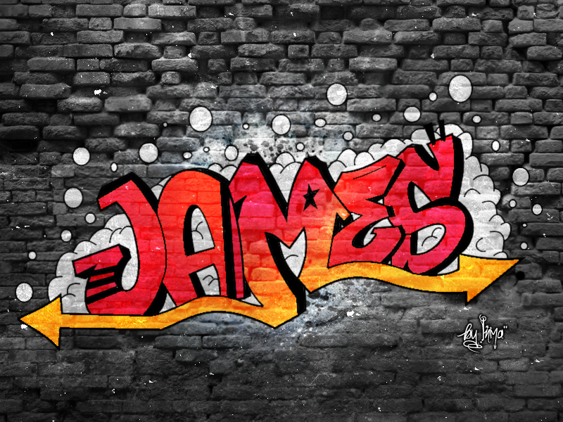 James Graffiti by inmany on deviantART Graffiti drawing