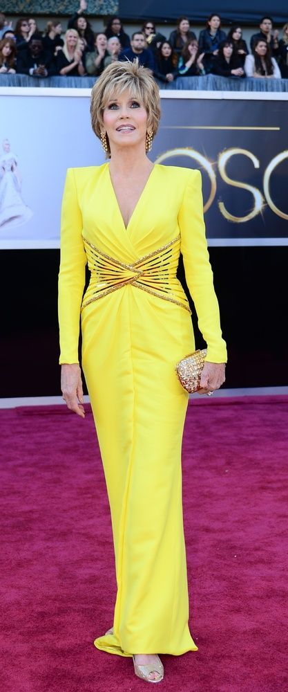 #JaneFonda in #Versace at the 2013 #Oscars