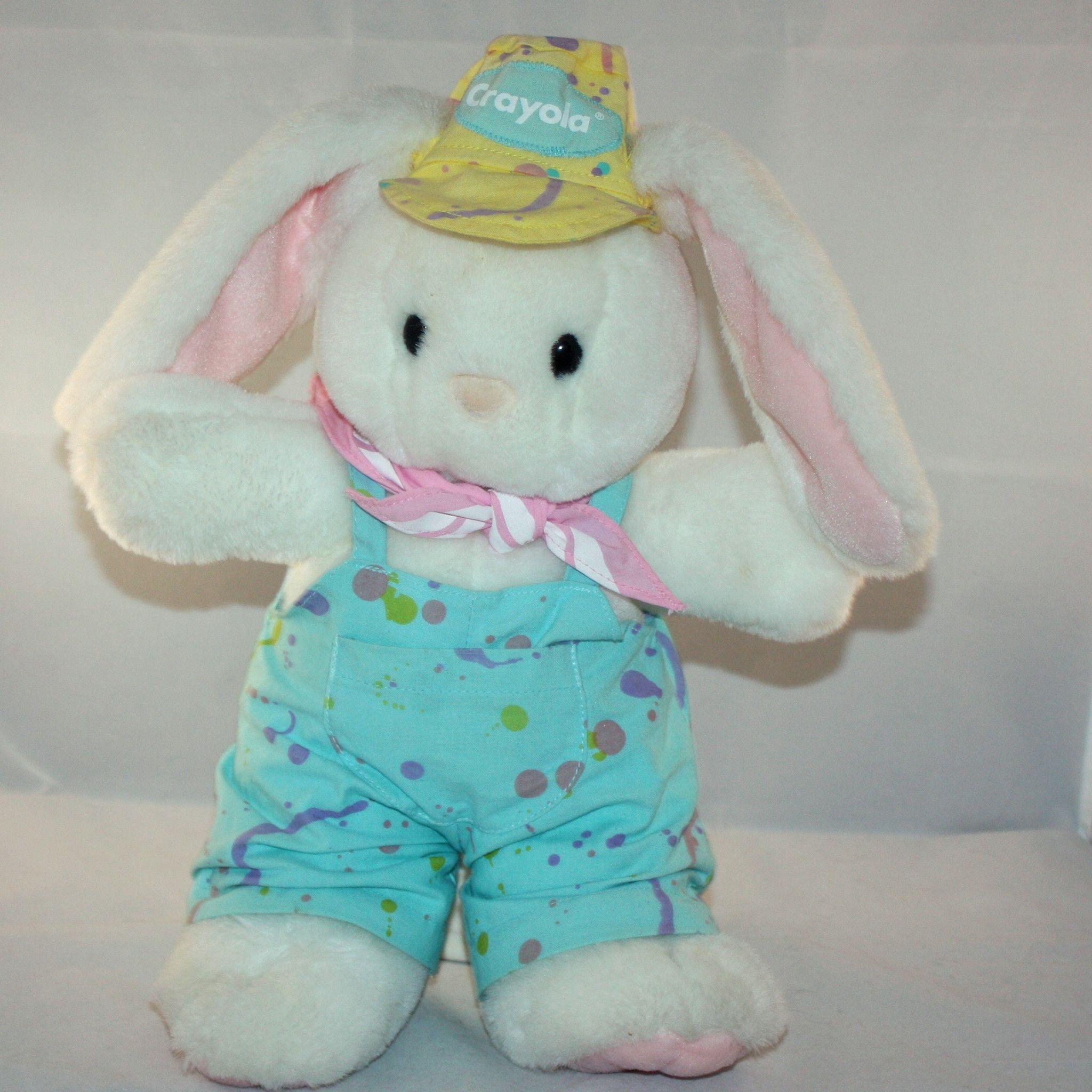 1990 Hallmark Heartline Crayola Bunny Rabbit Bunny Stuffed Animals Cute Toys Vintage Plush