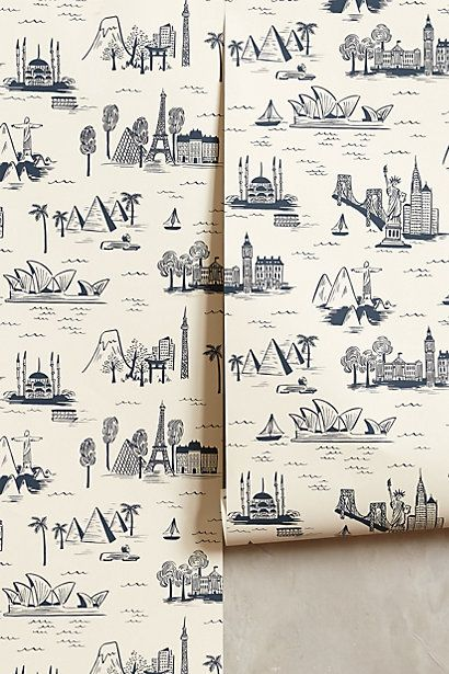 Cities Toile Wallpaper Anthropologie Toile Wallpaper Shop Wallpaper Home Wallpaper