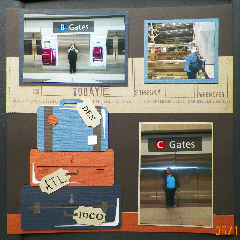 Handmade scrapbook page pg 2 travel denver airport