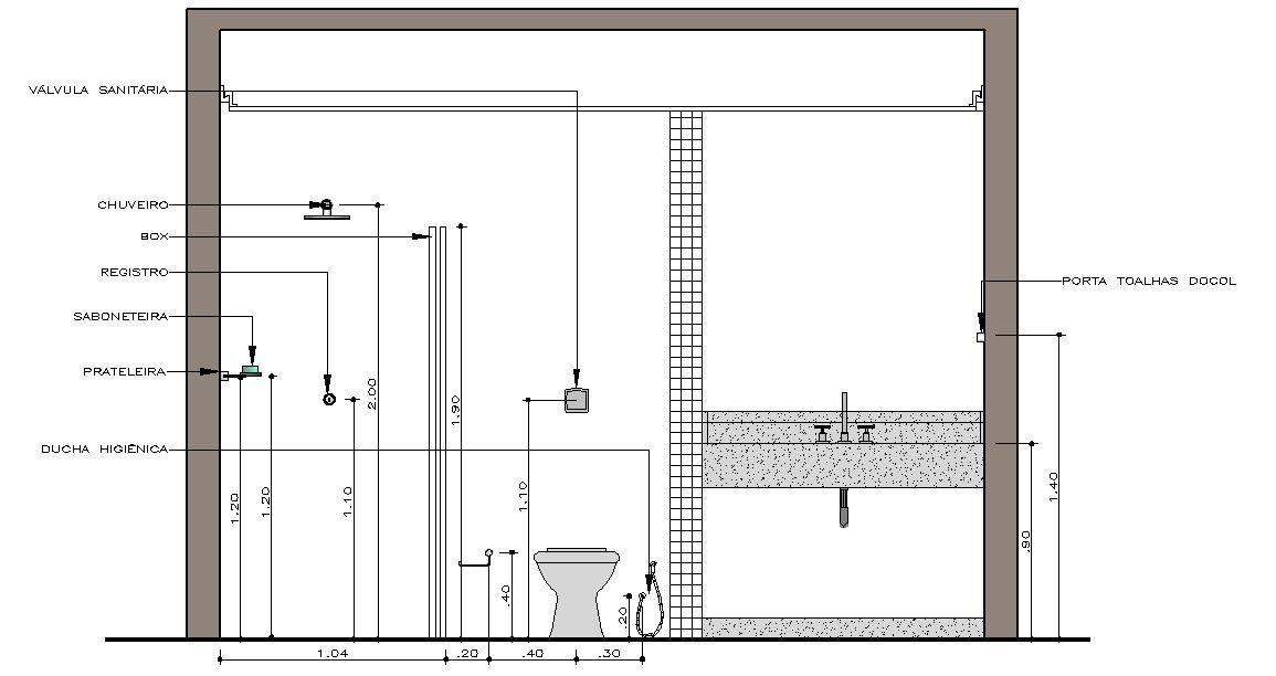 Tamanho padrão de porta de banheiro : Altura box banheiro pesquisa google medidas padr?o