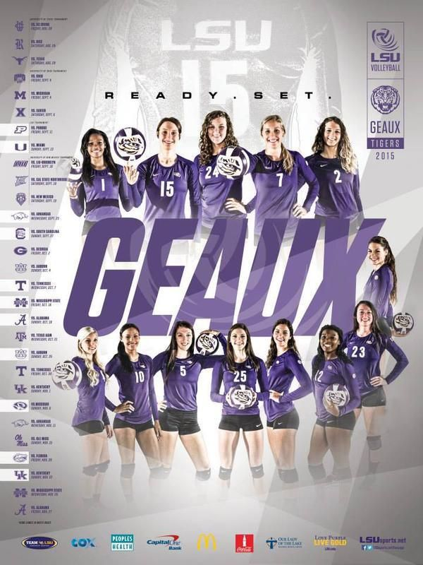 Lsu Volleyball Sport Poster Design Sports Design Sport Poster