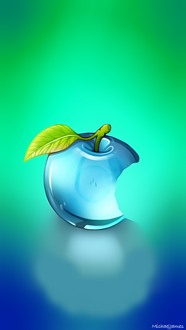 Blue Glass Apple Apple Iphone 5s Hd Wallpapers Available For Free Download Logotip Apple Yabloko Oboi Oboi Dlya Iphone