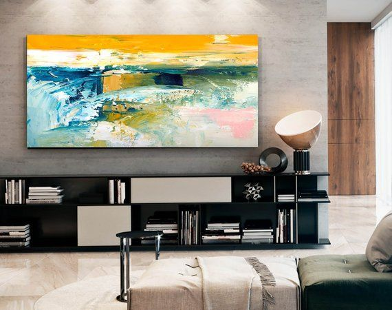 Abstract Painting Master Bedroom Art Living Room Textured Acrylic Entryway Above Sofa Paint