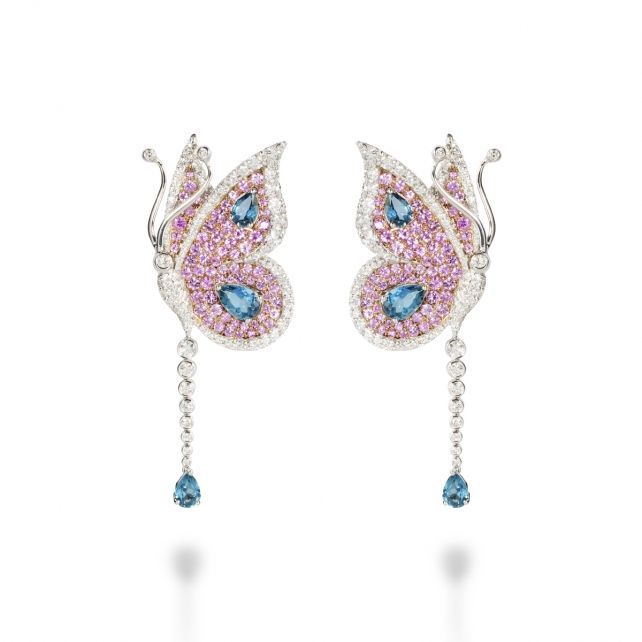LONDON BLUE TOPAZ CARBONELL BUTTERFLY EARRING London Blue Topaz Carbonell…
