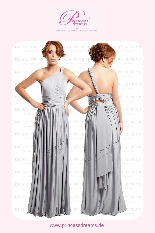Wickelkleid für Brautjungfern in grau! Das wunderschöne hellgraue