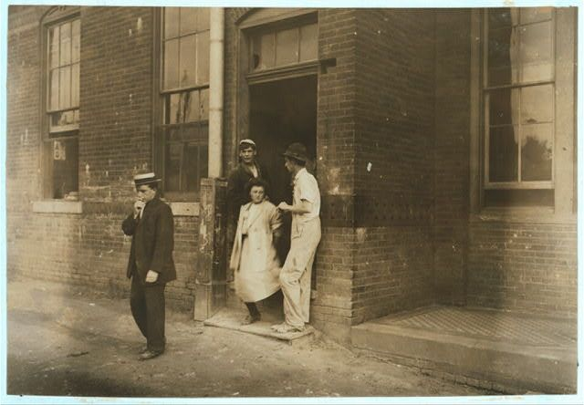 Girls Going Home From Indianapolis Tile Works. Aug., 1908.