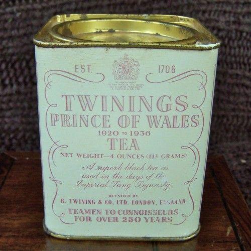 Vintage Twinings Prince Of Wales Tea Tin