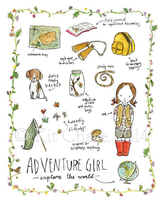 Hey, I found this really awesome Etsy listing at https://www.etsy.com/listing/96972949/childrens-art-adventure-girl-archival