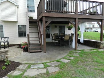 Underneath Deck Ideas | Patio Under Deck With Separate Firepit Patio.    Traditional   Patio
