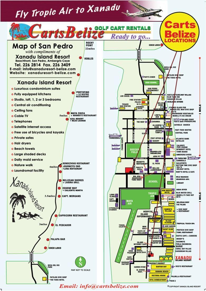 Ambergris Caye Belize map Belize Pinterest Ambergris caye