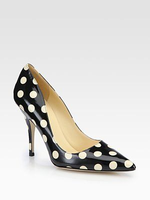 b2b0c0520eee Kate Spade New York Licorice Polka Dot Patent Leather Pumps