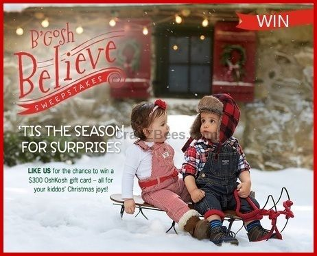 B gosh believe sweepstakes and giveaways