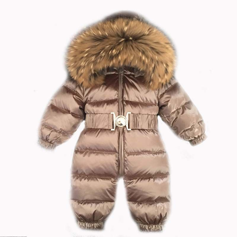 87ecbd75c Baby Jumpsuits Boys Girls Winter Overalls Baby Rompers Duck Down ...