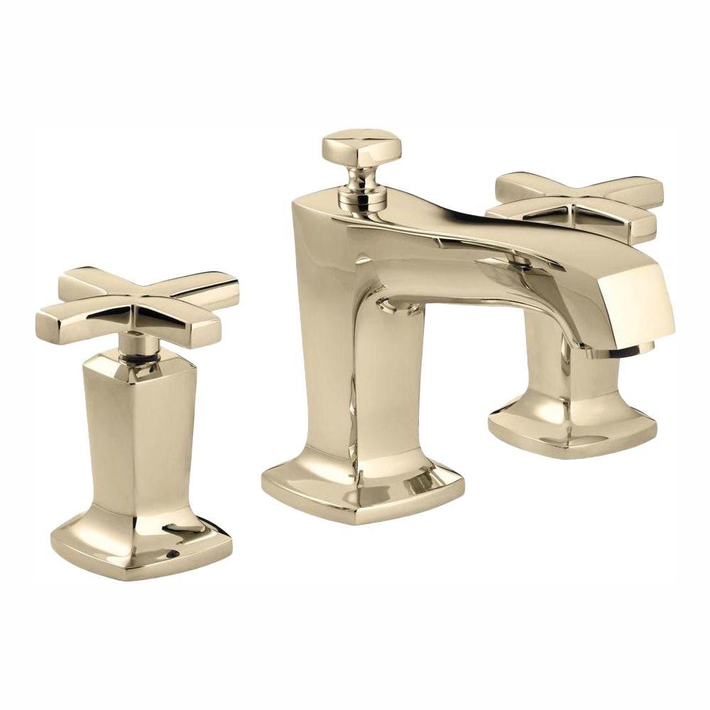 Kohler Margaux 8 In Widespread 2 Handle Water Saving Bathroom Faucet In Vibrant French Gold K 16232 3 Af The Home Depot In 2021 Faucet Bathroom Faucets Kohler