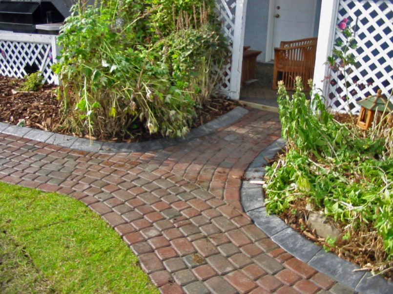 exterior how to do a brick walkway with curved brick walkway also brick and concrete walkway