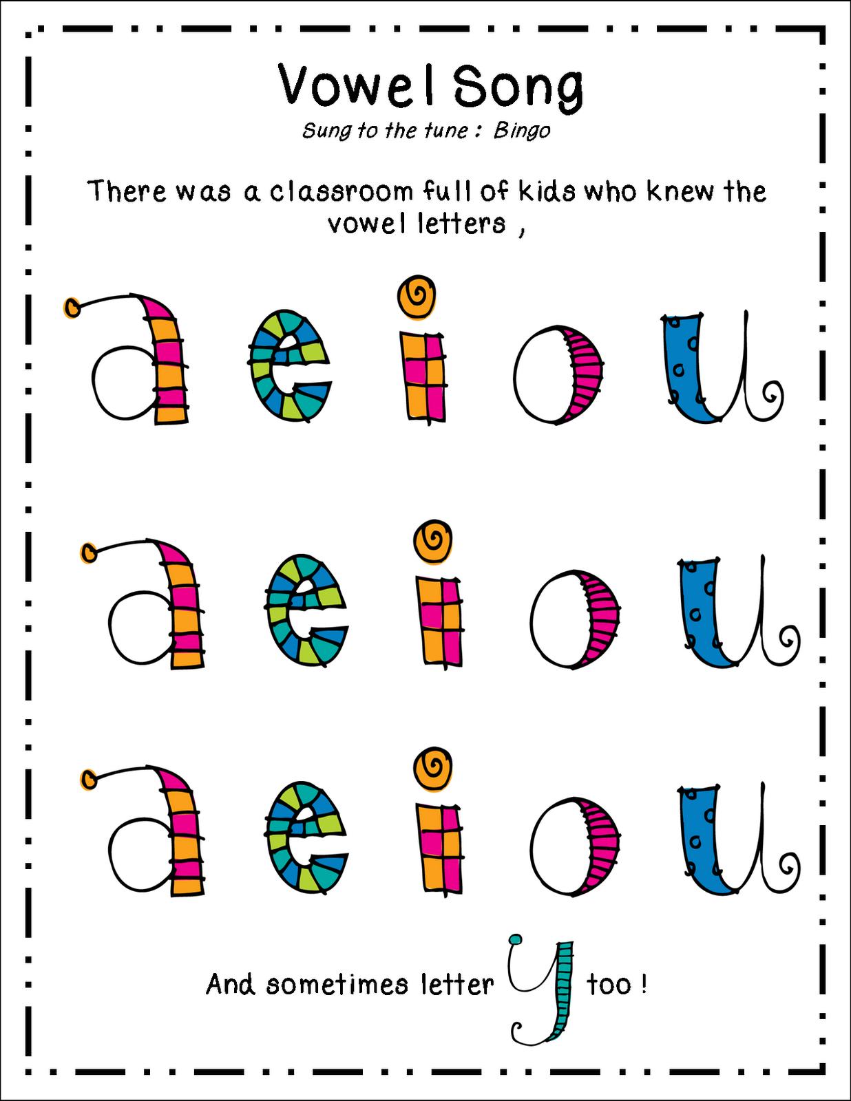 Cute Vowel Song Teaching Vowels Phonics Kindergarten Vowels Kindergarten [ 1600 x 1236 Pixel ]
