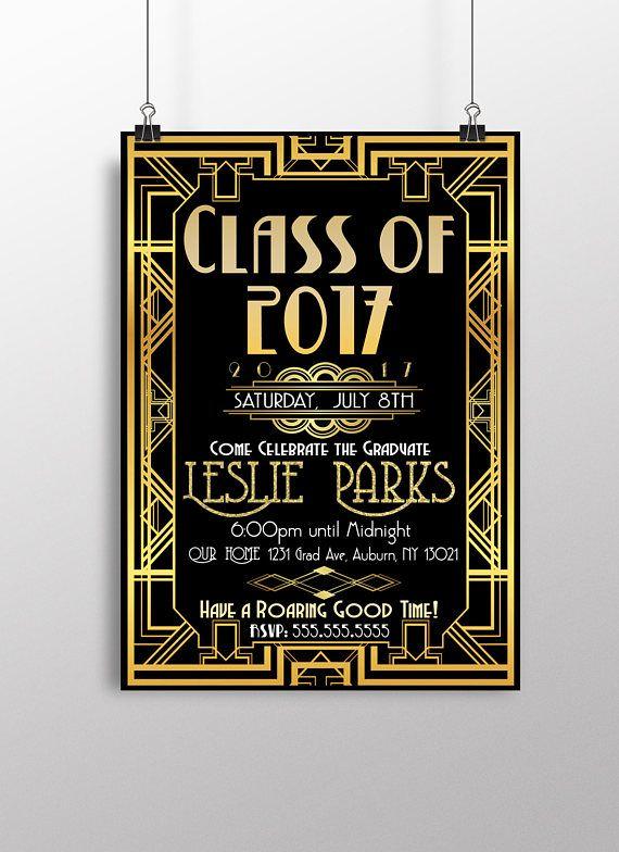 great gatsby invitations great gatsby graduation party decor